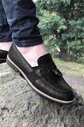 Yeni Model Vizyon (700) Siyah Desenli Erkek Ayakkabı