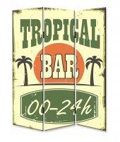 Dekoyes Tropikal Bar 3 Kanat Tekerlekli Kanvas...