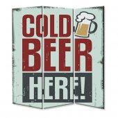 Dekoyes Cold Beer 3 Kanat Tekerlekli Kanvas...