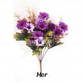 Papatya Demeti Ara Dallı Yapay Çiçek 3 Renk-3
