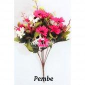 Papatya Demeti Ara Dallı Yapay Çiçek 3 Renk-4