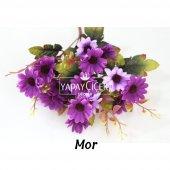 Papatya Demeti Ara Dallı Yapay Çiçek 3 Renk-6
