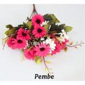 Papatya Demeti Ara Dallı Yapay Çiçek 3 Renk-7