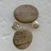 Tab� Taşlı Gümüş Küpe (Kg4).