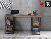 çalışma Masası Kitaplıklı Ev Ofis 4 Raflı...