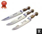 Sürmene Bıçak Seti 3lü Orjinal Bilezikli El Yapımı Soğuk Mühürlü