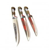 Sürmene Bıçak Seti 3lü Orjinal Bilezikli El Yapımı Soğuk Mühürlü-3