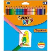Bic Kids Tropicolors Kuru Boya Kalemi Uzun 24...