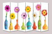 Dekoyes Vazoda Çiçekler 6 Kanat Tekerlekli...