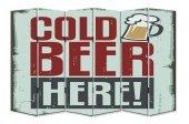 Dekoyes Cold Beer 6 Kanat Tekerlekli Kanvas...
