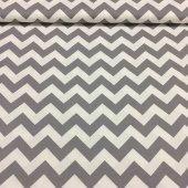 Zeren Home Zigzag Desen Dertsiz Mutfak Masa Örtüsü Gri Beyaz 160cm X 300cm