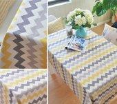 Zeren Home Zigzag Desen Dertsiz Mutfak Masa Örtüsü  100cm x 140cm-2