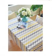 Zeren Home Zigzag Desen Dertsiz Mutfak Masa Örtüsü  160cm x 250cm