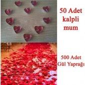 Partiniseç 50 Mum + 500 Kumaş Gül Yaprağı...