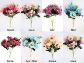 Yapay Çiçek 10lu Büyük Kafa Papatya Demeti 7 Renk