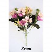 Yapay Çiçek 10lu Büyük Kafa Papatya Demeti 7 Renk-4
