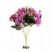 Yapay Çiçek 10lu Büyük Kafa Papatya Demeti 7 Renk-6