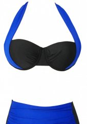 Angelsin Mavi Siyah Bikini üst-2
