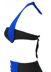 Angelsin Mavi Siyah Bikini üst-3