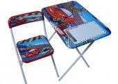 Katlanır Çalışma Masası Ve Sandalye Mavi