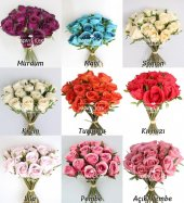 Yapay Çiçek 15li Lux Tomur Gül Buketi 9 Renk