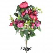 Yapay Çiçek 18 Goncalı Büyük Gül Aranjmanı 6 Renk-4