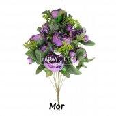 Yapay Çiçek 18 Goncalı Büyük Gül Aranjmanı 6 Renk-5