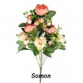 Yapay Çiçek 18 Goncalı Büyük Gül Aranjmanı 6 Renk-7