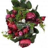 Yapay Çiçek 18 Goncalı Büyük Gül Aranjmanı 6 Renk-10