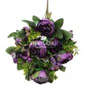 Yapay Çiçek 18 Goncalı Büyük Gül Aranjmanı 6 Renk-11