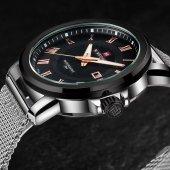 NaviForce Nf9038 Erkek Kol Saati Gümüş Sade Spor Tasarım Saat