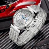 Reward Sade Tasarım Erkek Kol Saati Gümüş Hasır Kordon Saat
