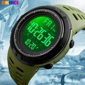 Skmei 1251 Asker Yeşili Erkek Kol Saati Su Geçirmez Işıklı Saat