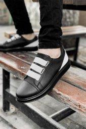 2020 Özel Tasarım Ortopedik Erkek Siyah Beyaz Topuk Spor Ayakkabı