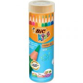 Bic Kids Evolution Üçgen Jumbo Kuru Boya Kalemi 12+1Li Metal Tüp