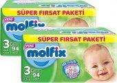 Molfix Süper Fırsat Paketi 3 94 Adet *2li Set