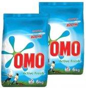 Omo Toz Deterjan Active Fresh 6 Kg*2 Adet