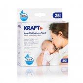 Kraft 008 Yeni Süt Saklama Poşeti 225 Ml 25 Adet