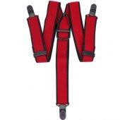 Velila Plastik Klipsli Yıkanabilir Antialerjik Pantolon Askısı Kırmızı