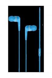 We01 Mikrofonlu Kulak Içi Kulaklık Silikonlu Mavi 1.02.04.22063.963