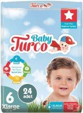 Baby Turko Bebek Bezi 6 Beden 16+ 24 Adet