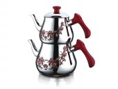 özkent Pramit Desenli Çaydanlık Takımı Mini