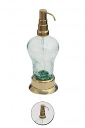 Maya Ottoman PVD Gold Setüstü Sıvı Sabunluk C Cam 100 Pirinç