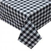 Zeren Home Kareli Mutfak Masa Örtüsü Siyah 160cm X 300cm