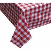 Zeren Home Kareli Mutfak Masa Örtüsü Kırmızı 140cm x 160cm-2