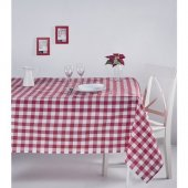 Zeren Home Kareli Mutfak Masa Örtüsü Kırmızı 150cm x 220cm