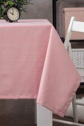 Zeren Home Dertsiz Düz Mutfak Masa Örtüsü Pembe 150cm X 220cm
