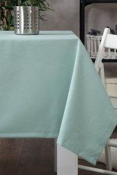 Zeren Home Dertsiz Düz Mutfak Masa Örtüsü Deniz Yeşili 130cm X 160cm