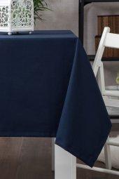 Zeren Home Dertsiz Düz Mutfak Masa Örtüsü Lacivert 140cm X 220cm
