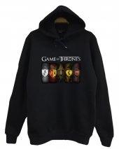 Game Of Thrones Baskılı Kapüşonlu Sweatshirt